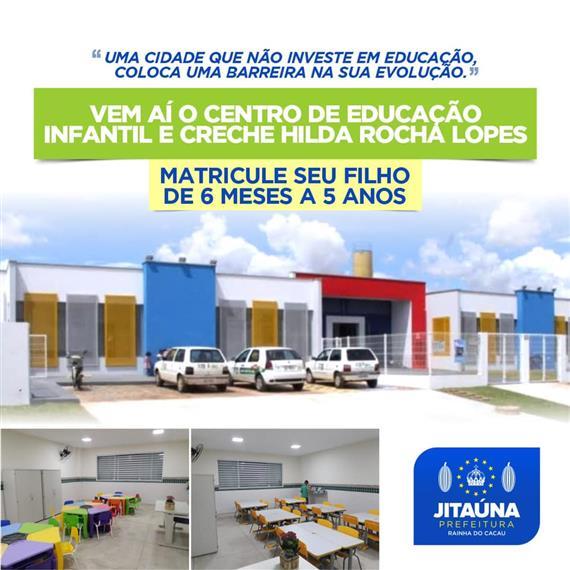 #PrefeituraMunicipaldeJitaúna #SecretariaDeEducação #MatriculasAbertas #NovaCrecheJitaúna